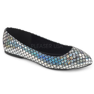Shoes - Mermaid Scales Hologram Comfy Pointy Toe Flats